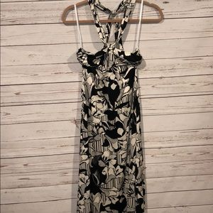 Banana republic silk blend floral maxi dress
